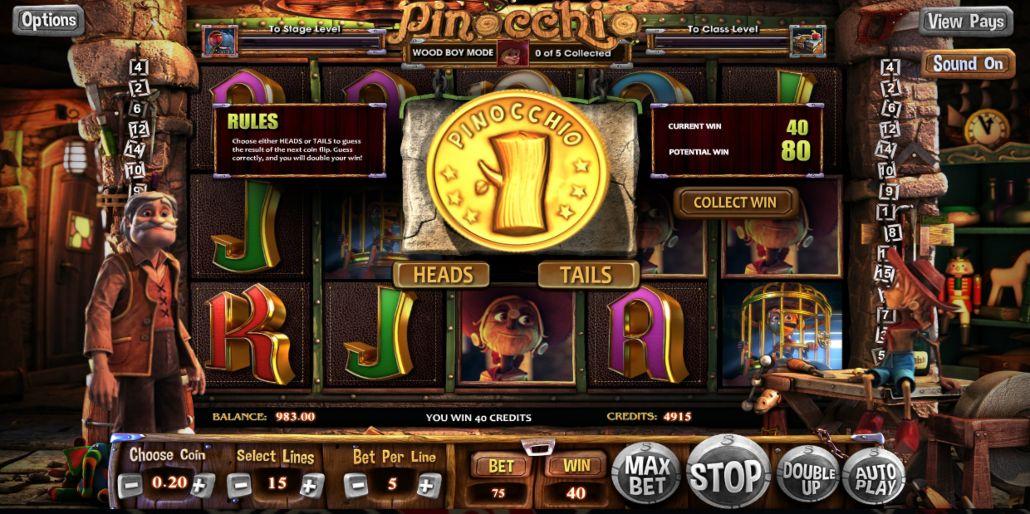 пинокио слот игра